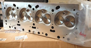 Edelbrock heads from Barnett Performance...  Thanks, Jim!