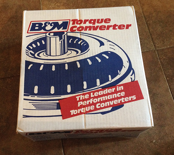 The box arrives! B&M Holeshot torque converter – A somewhat ill-mannered 2400 stall…