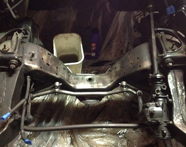 Frame perches / motor mounts removed. Scrubbed and de-greased. Lookin' good.